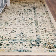 august grove ruthie beige turquoise area rug u0026 reviews wayfair