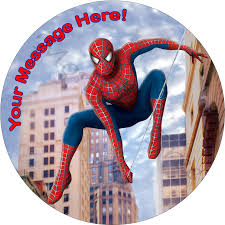 spiderman personalised edible cake image new the monkey tree