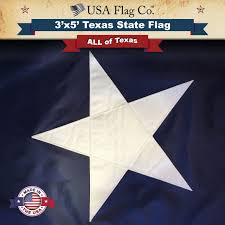 Texas State Flag Texas Flag 3x5 Foot Fully Sewn Design Usa Flag Co