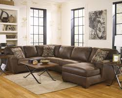 living room brown leather oversized sectional sofa with chaise