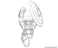 flying captain america kids44cf coloring pages printable