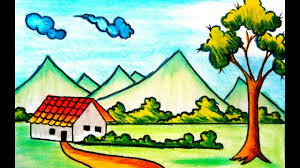 scenery images Scenery drawing for kids at free for personal jpg