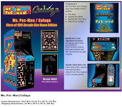 Ms Pacman Cabinet Ms Pacman Galaga And Pacman 20th Anniversary