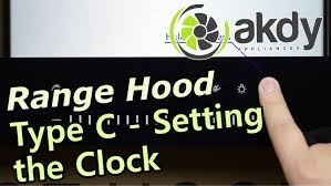 AKDY Range Hood Type C Setting the Clock [How To]