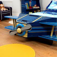 bedroom glamorous airplane toddler bed kidkraft furniture blue