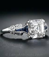 art deco diamond and sapphire engagement rings art deco blue
