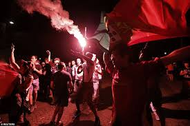 portugal fans celebrate 2016 on streets of lisbon daily