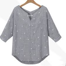 plus size zanzea fashion blusas summer style women casual v