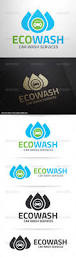eco car wash logo template by liveatthebbq graphicriver