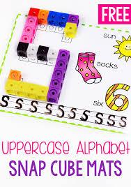 printable alphabet mat free printable uppercase alphabet snap cube mat