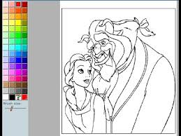 beauty beast coloring pages kids beauty