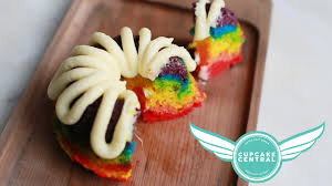 rainbow bundt cakes with cupcake central youtube