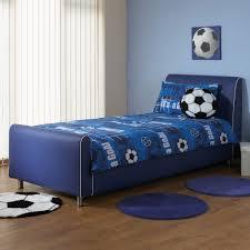 Blue Bed Frame A I Beds Azure Boys Faux Leather Bedstead 3ft Single Blue
