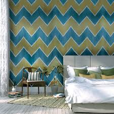 Hand Painted Wallpaper by Contemporary Wallpaper Fabric Geometric Hand Painted Ikat