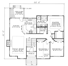 plan 59510nd open floor plan three bedroom design split level