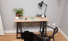 Diy Study Desk D I Y Trestle Desk Bunnings Warehouse