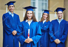 college graduation gowns college students in graduation gowns stock photo pressmaster