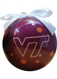 virginia tech collegiate ornament for the home