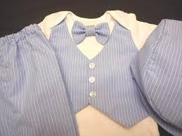 boys light blue dress pants baby boy blue white stripe suit vest bow tie pants hat