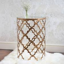 quatrefoil metal side table metal side table quatrefoil and metals
