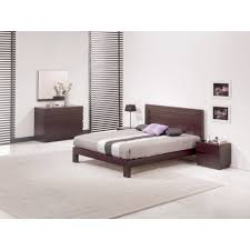 chambre wengé chambre adulte contemporaine wenge lazzio lit 160x200 chevet 2