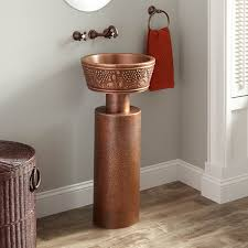 Hammered Copper Bathroom Sink Antique Copper Bathroom Sink Signature Hardware