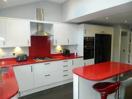 kitchen cabinets red appliances ideas with for also backsplash and behind besides
