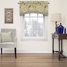 waverly brighton blossom arched cotton window valance by waverly