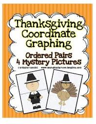 thanksgiving coordinate graphing ordered pairs mystery pictures