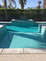 palm springs pool u0026 spa remodel custom two color green mix