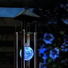 solar powered wind chime light solar powered colour change windchime