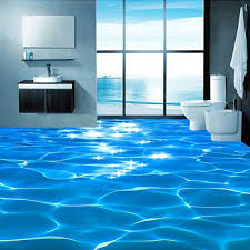 Bathroom Floor Coverings Ideas Stylish Ideas Plastic Floor Covering Custom Mural Wallpaper 3d Sea