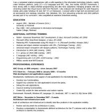 programmer resume exle junior programmer resume exle sle software exles for cover letter
