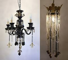 mardi gras bead chandelier julie neill shows saints with who dat chandeliers popsugar home