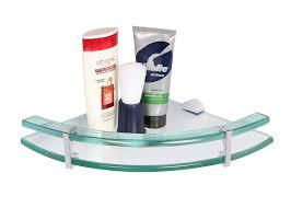Bathroom Corner Shelves Glass by Regis Bathroom Wall Corner Glass Shelf Rack Safari 225mm Rg