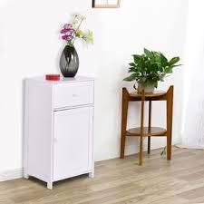 costway floor cabinet bathroom organizer floor towels storage