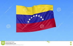 Flag Venezuela Waving Flag Of Venezuela Seamless Loop Exact Size Blue