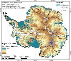Ocean Lakes Map Antarctic Subglacial Lakes