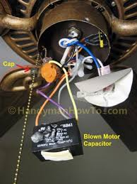 monte carlo ceiling fan capacitor replacement fix a blown ceiling fan capacitor housekeeping pinterest