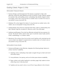 Resume Paper Office Depot Project 2 Grading Criteria English 202