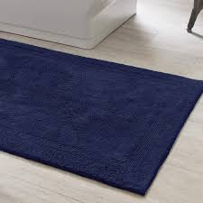 Bathroom Rug Runner Signature Indigo Bath Rug Pine Cone Hill