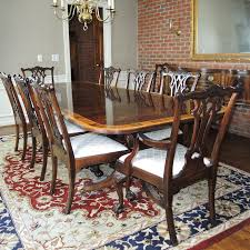 stickley mahogany dining table chippendale style mahogany dining table ten chairs by stickley ebth