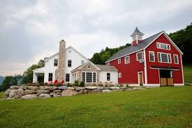 house and barn the eaton post and beam carriage house farmhouse exterior