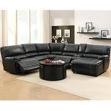 Leather Sectional Sofa With Chaise by Reclining Sectional Faux Leather Reclining Sectional Cup Holders