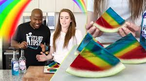 rainbow watermelon vodka jello shots tipsy bartender youtube