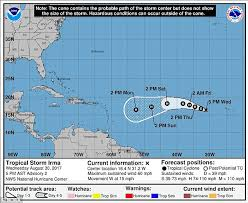 tropical storm irma will become a hurricane by friday daily mail