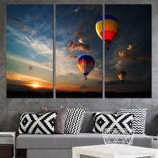 3 panels canvas art dubai air ballooning home decor wall art