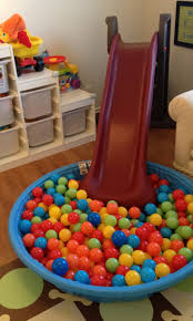 Kids Playroom Ideas by Fun Playroom Idea With Slide And Baby Pool Full Of Plastic Balls