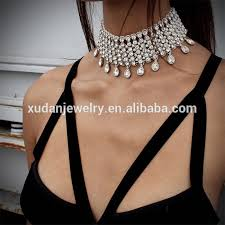 crystal choker necklace wedding images 2016 fashion pretty gold crystal bridal chokers costume gold jpg