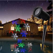 moving snowflake led landscape laser light garden projector l